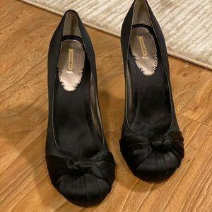 Max studio satin knot heels